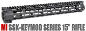 MI SSK-KeyMod Series One Piece Free Float Handguard, 15-inch