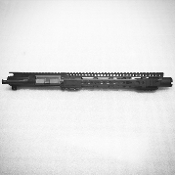 "10.5"" SS 5.56/223 Ar15 Upper, Slanted Hybrid Keymod & Flash Can"