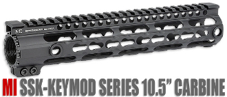 MI SSK-KeyMod Series One Piece Free Float Handguard, 10.5-inch