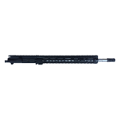 "18"" SS .223 Wylde 1:8 Fluted Ar15 Upper, 12"" Midwest SSK Rail"
