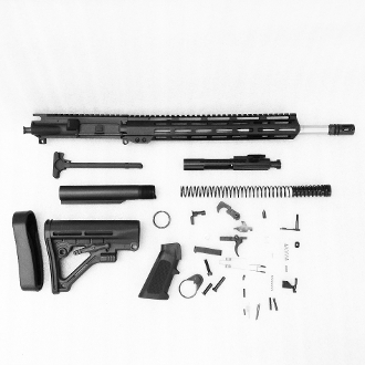 "*Rifle Build Kit* blem 16"" SS Ar15 5.56 1:8 mid, 12"" mlok Rail"