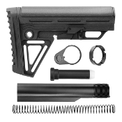 Alpha Slim Stock with Mil Spec 6-position Buffer Tube Kit