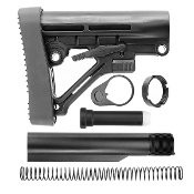 Ar15 Predator / Omega Stock & Buffer Tube kit - Black