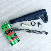 Surge Ar15 6 position stock / buffer tube kit with can of Surge