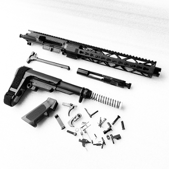 "10.5"" 300 Blk or 5.56 Fat Keymod with SBA3 ar *Pistol Build Kit*"