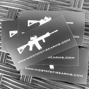 midstatefirearms.com ar15 logo sticker
