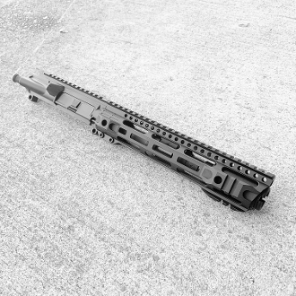 "7.5 223 Wylde Ar15 Upper with 10"" Hybrid Mlok Rail & Flash Can"